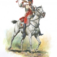 Trumpeter British 17th Light Dragoons 1776