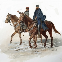 "General ""Stonewall"" Jackson and His Aide de Camp , Sandy Pendleton"