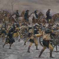 """Victory or Death"" General Washington leads his army towards Trenton on the morning of Dec. 26, 1776"