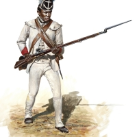 Black soldier of the Rhode Island Regiment of the Continental Line 1781