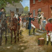 """Answering Liberty's Call "" . During the American Revolution a Continental Army officer departs from his home and family."