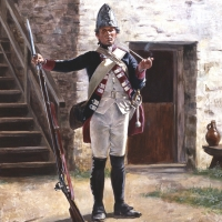 Fusilier of the Hess-Cassel Regiment Erb Prinz, New York 1776